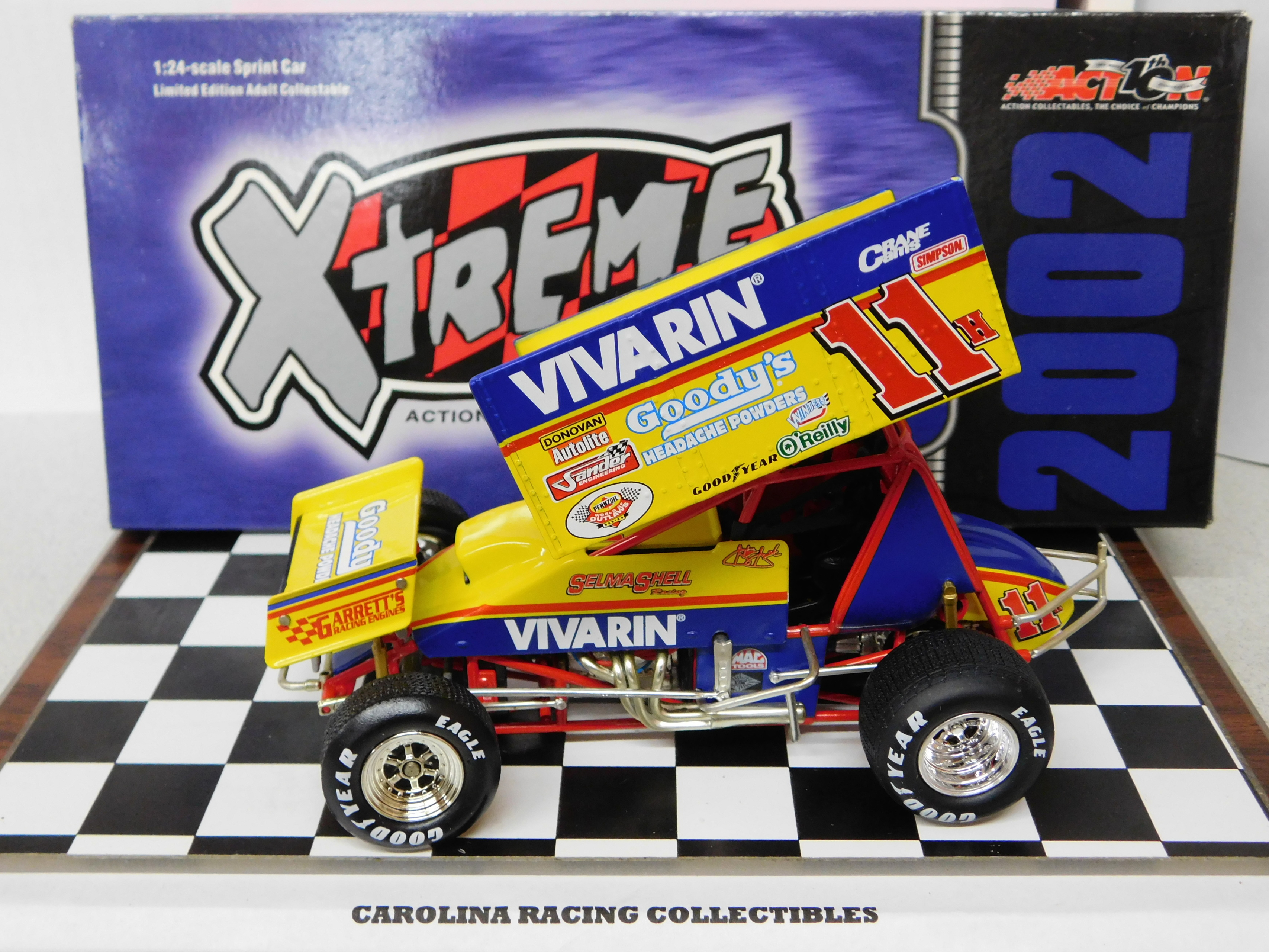 Action 1 24 Stevie Smith 11h Vivarin 2002 Sprint Car Xtreme